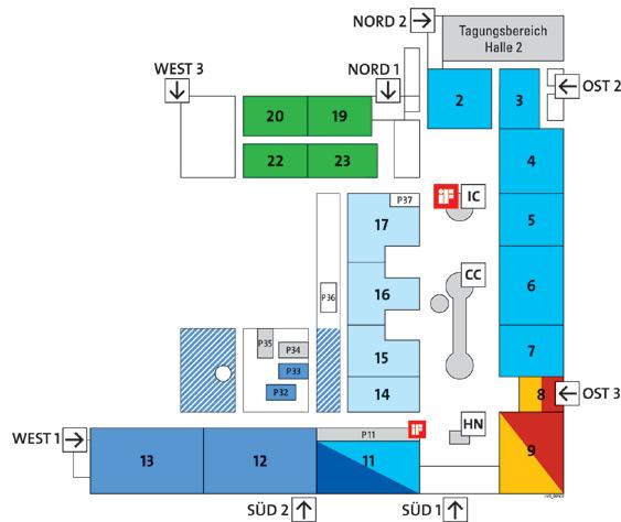 CeBIT 2011 Hallenplan